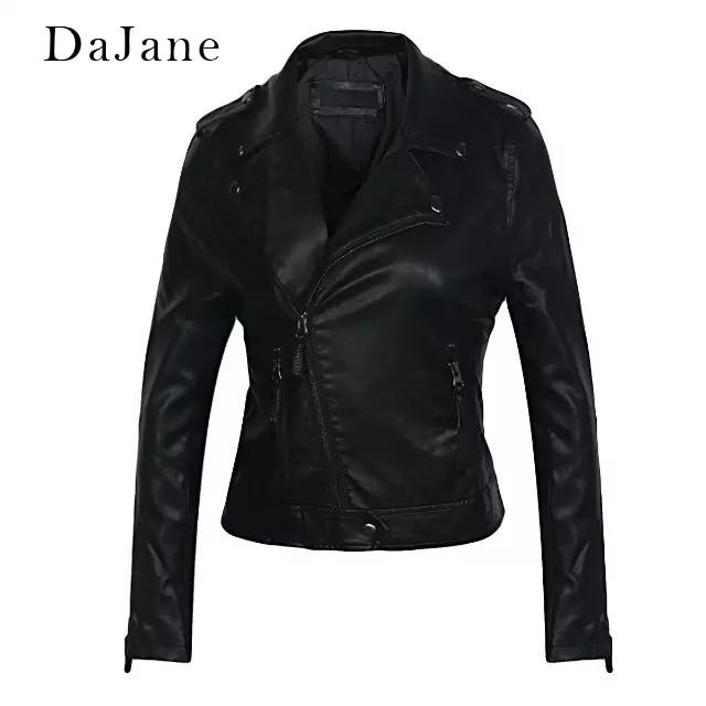 Autumn New women's PU   Leather   Jacket long-sleeved Locomotive Shirt Manufacturers   Leather   Jacket Women