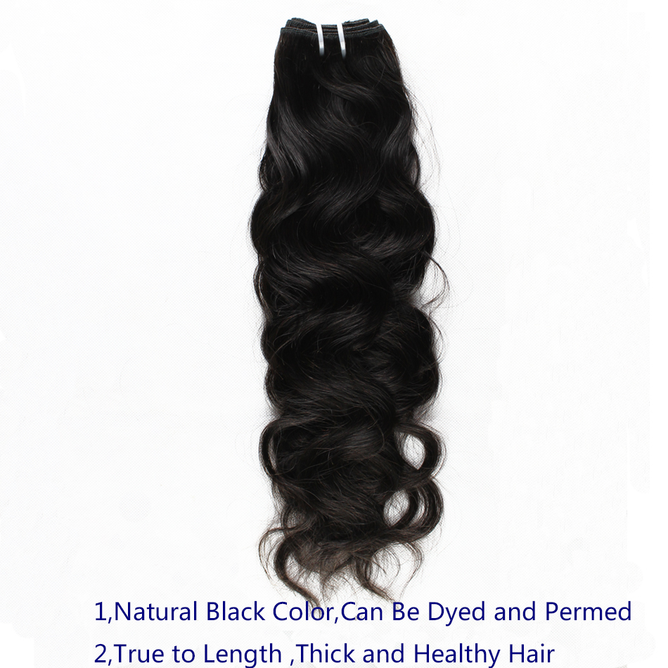 Image 3 - Ali Sky Hair 3 Bundles Peruvian Natural Wave Mixed Length 8 30inch black color No Shedding No Tangle Remy freeshippping-in 3/4 Bundles from Hair Extensions & Wigs