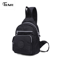 TEGAOTE Crossbody Bags For Men Messenger Chest Bag Pack Casual Bag Waterproof Nylon Single Shoulder Strap