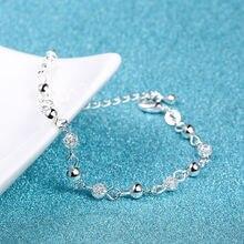 Bracelet beads 2016 New Women Silver