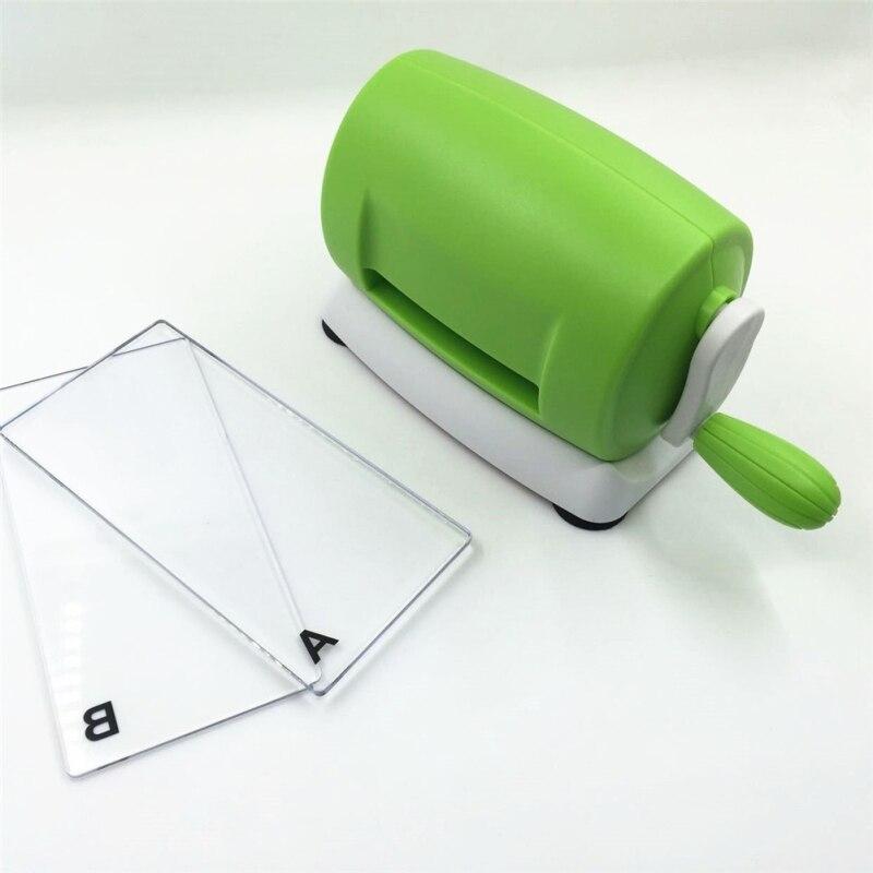 Scrapbooking Mini Artisanat Machine De Découpe Gaufrage Cutter Pièce Die Cut Vert Coupe-Papier Die-Cut Machine LQK0307