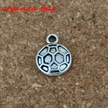 Football Pendants 100Pcs/lot Hot sell Antique Silver Jewelry DIY 11 x15mm A-184