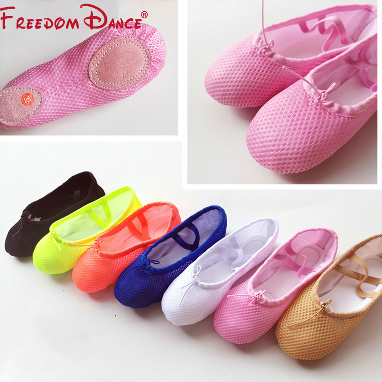 2019 New Fluorescence Color Girls Ballet Flat Dance Shoes 7Colors Net Cloth Soft Ballet Yoga Fitness Shoe From Children to Adult2019 New Fluorescence Color Girls Ballet Flat Dance Shoes 7Colors Net Cloth Soft Ballet Yoga Fitness Shoe From Children to Adult