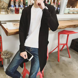 e2f2b95d ACTIDEE autumn long Cotton sweaters men's knitted cardigan