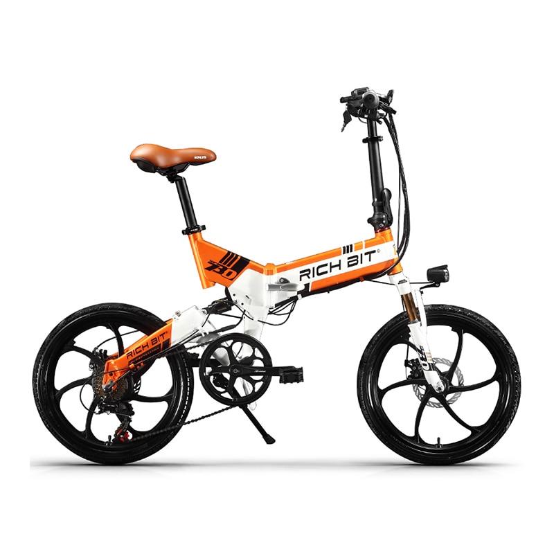 Купить электрический велосипед richbit складной 48 в 8 а/ч 7 скоростей