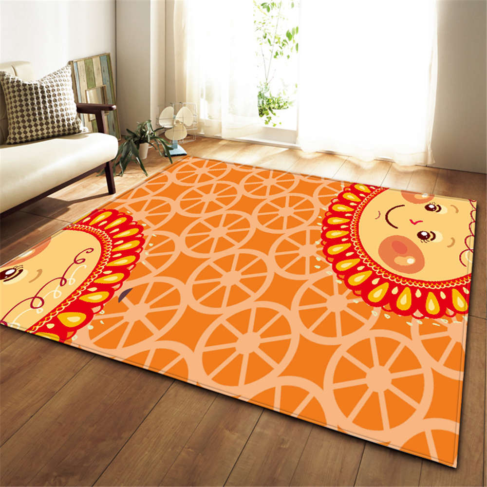 US $27.74 33% OFF|Cartoon Sunflower Carpets Baby Play Mat Flannel Memory  Foam Childrens Bedroom Bedside Tea Table Area Rugs Living Room Carpet-in ...