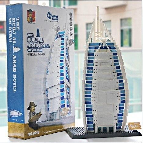 Model building kits compatible with lego city Burj Al Arab Hotel of Dubai 856 3D blocks Educational toys hobbies for children 2017 world famous architecture burj al arab dubai the united arab emirates building block model standard brick size city toys