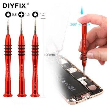 Destornillador de precisión DIYFIX 1 pieza Y0.6 P2 P5 Pentalobe 1,5 Phillips para MacBook teléfono móvil MP3 herramientas de reparación de apertura