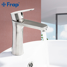 FRAP Basin Faucets brushed stainless steel basin tap bathroom basin faucet sink faucet mixer tap saving water torneira tapware все цены