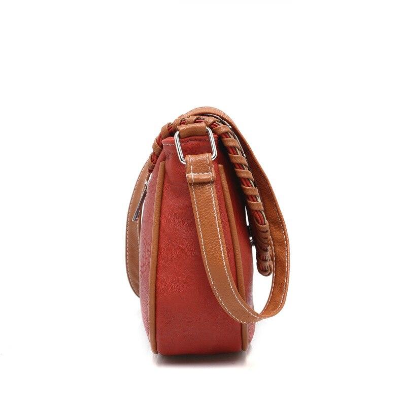 CLELO nueva moda mujeres pu bolsas de mensajero suave mini solapa - Bolsos - foto 4