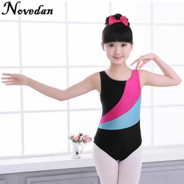e38de4ec2ba8 ... New Girls Skate Gymnastics Leotard/Unitards Kids Spandex Lycra Tank  Sleeveless Dance Ballet Leotard Children ...