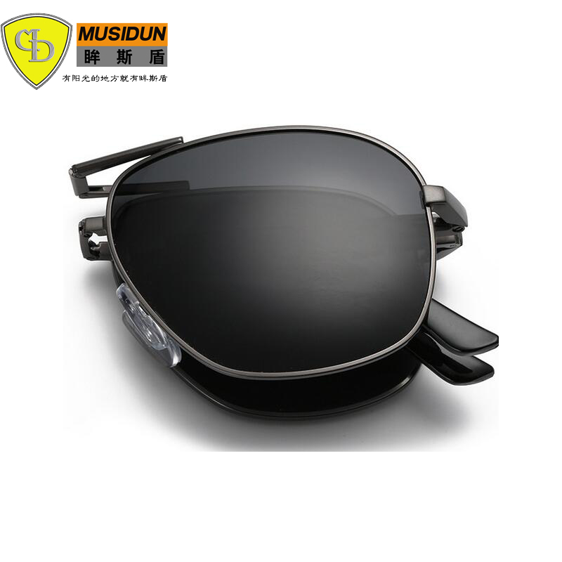 2018 New Fashion Men Male Polaroid Sunglasses Sun Glasses Brand Design Glasses High Quality Oculos Sunglasses can be folded A345