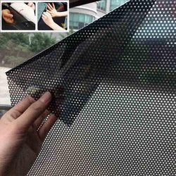 Para 72*52cm samochód diy okulary przeciwsłoneczne folia ochronna pokrywa okna boczna osłona przeciwsłoneczna blok statyczny osłona ekranu naklejki w Folie okienne od Samochody i motocykle na