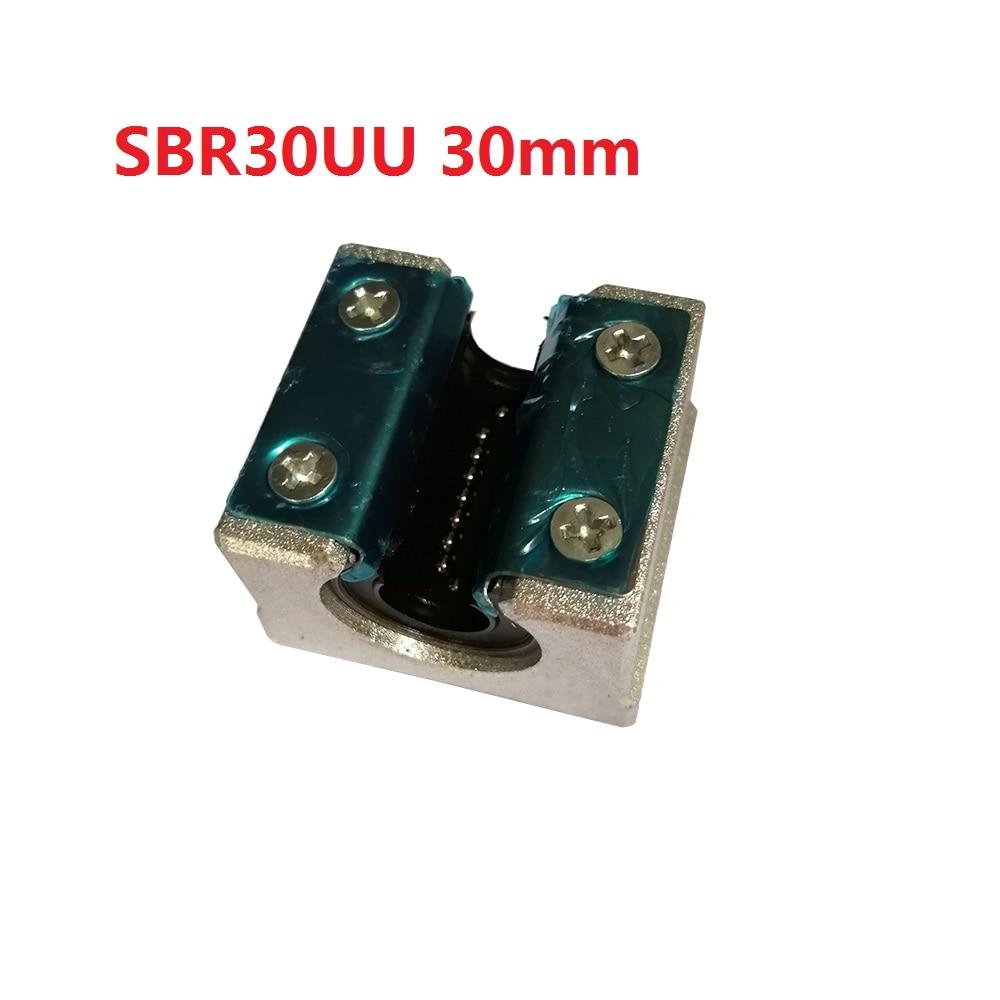 1PCS SBR30UU 30mm SBR30 Linear Motion Ball Bearing CNC Slide Bushing for linear shaft 3D printer parts axk sc8uu scs8uu slide unit block bearing steel linear motion ball bearing slide bushing shaft cnc router diy 3d printer parts