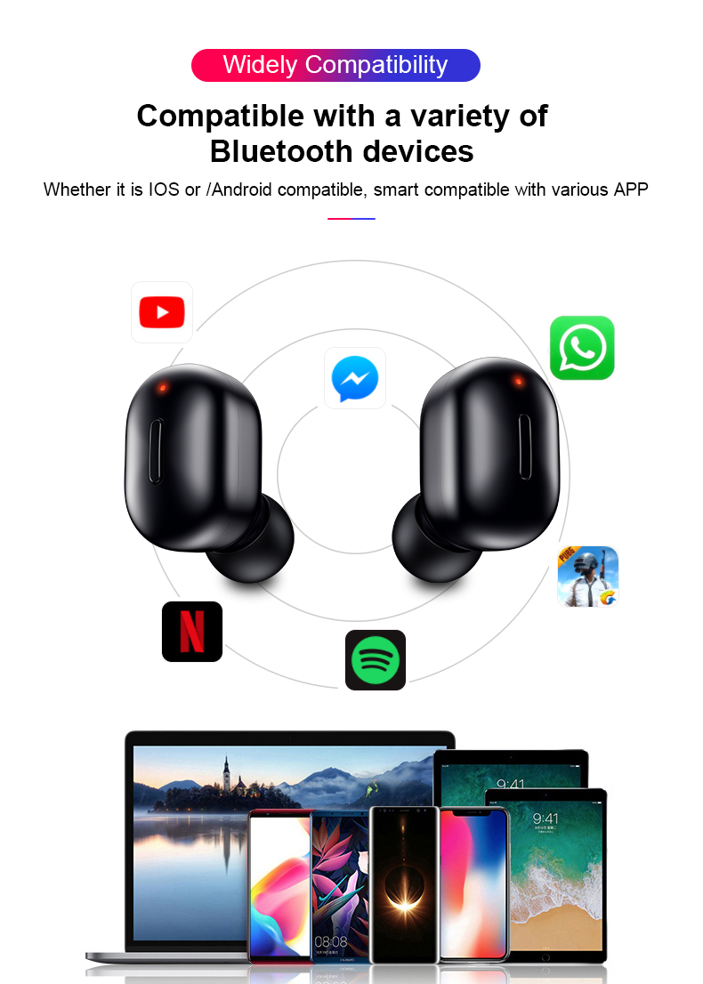 HTB1.XZpajzuK1Rjy0Fpq6yEpFXaf Mini T1 TWS V5.0 Bluetooth Earphone 3D True Wireless Stereo Earbuds With Mic Portable HiFi Deep Bass Sound Cordless Dual Headset