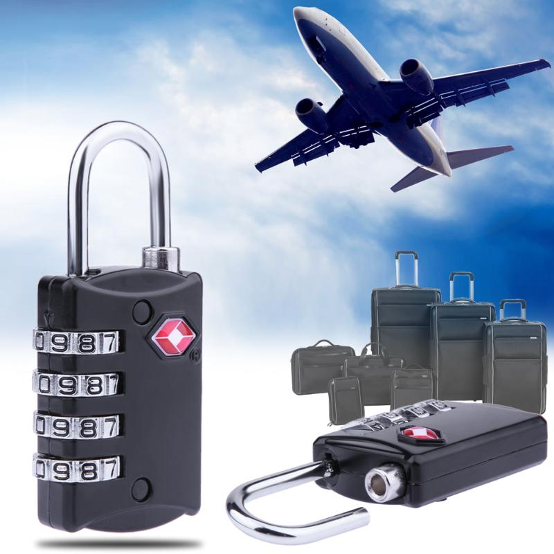 18cd458273df 4 Digit Resettable Security Combination Travel Suitcase Luggage Bag Code  Lock Zinc Alloy Padlock Combination Lock — Shop For Products & Services