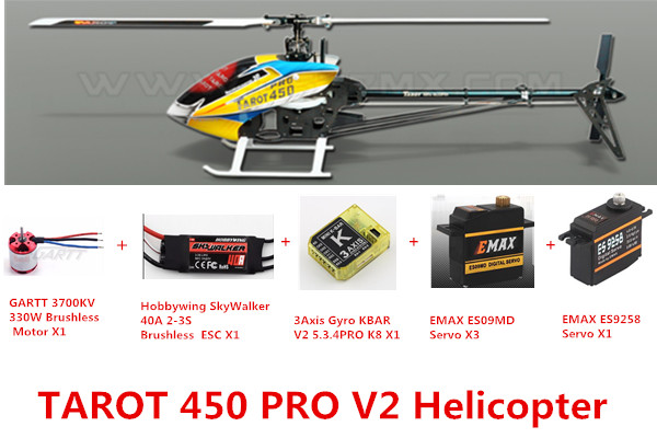 Tarot 450 Advanced Version PRO V2 FBL Helicopter advanced the mvp pro