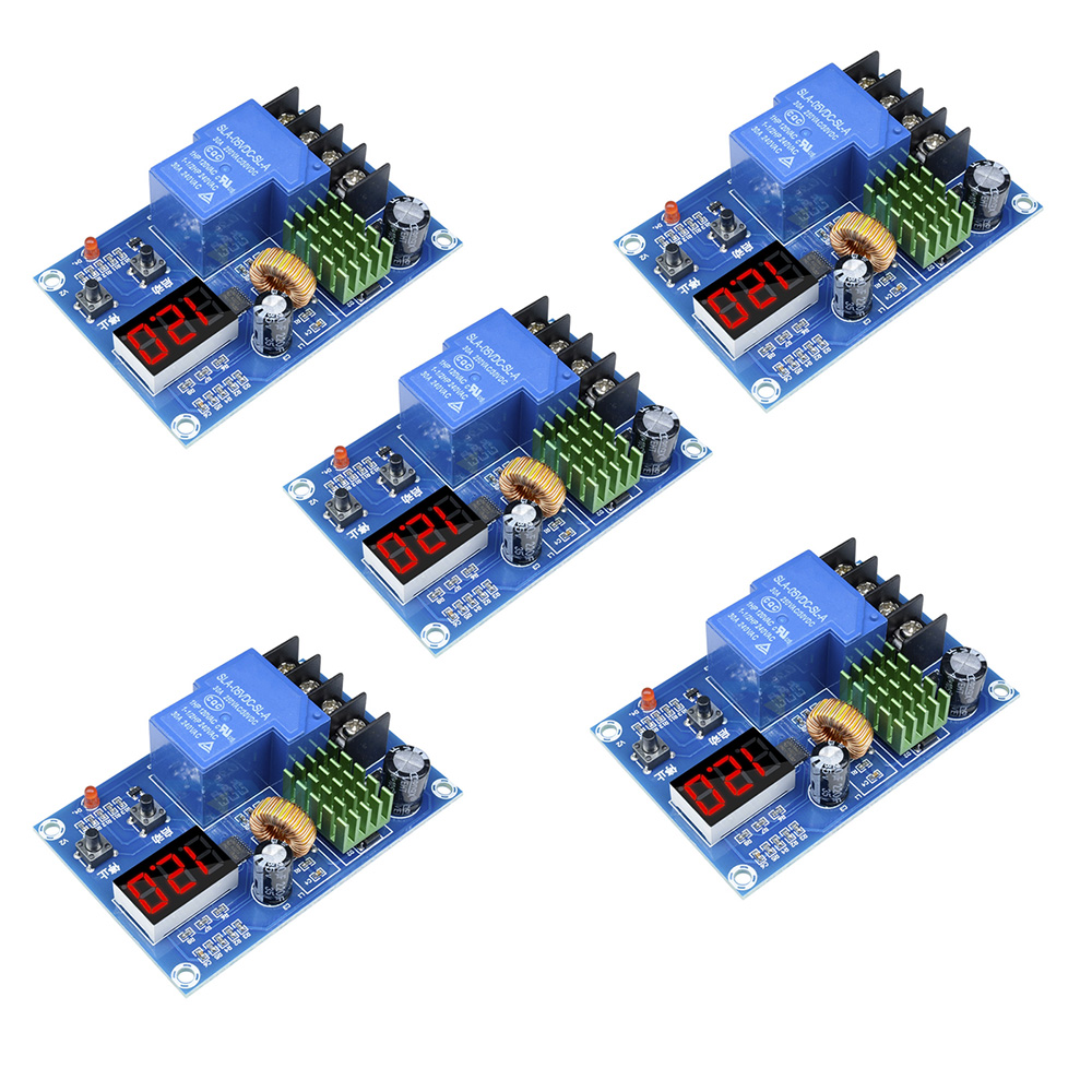 5PCS XH-M604 Battery Charger Control Module DC 6-60V Storage Lithium Battery Charging Control Switch Protection Board FZ3744