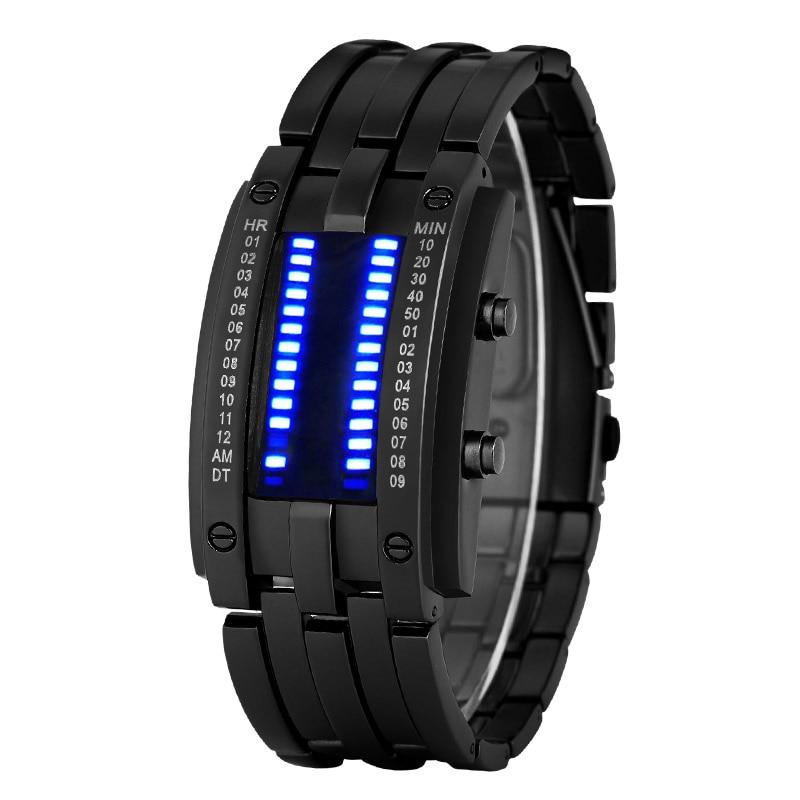 Luxury Men Waterproof Electronic Second Generation Binary LED Watches Mens Wrist Watch Clock Women Kid Gift Relogio Masculino