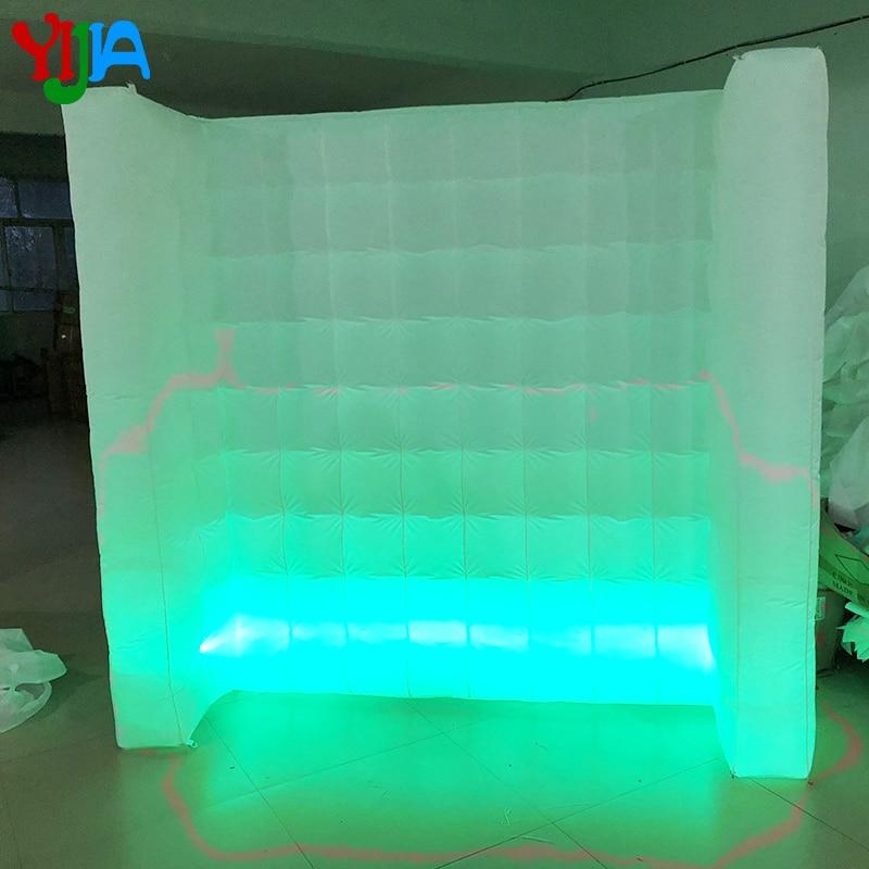 Ev ve Bahçe'ten Parti Arka Planları'de Yeni çekici beyaz led şerit fotoğraf kabini açık hava duvar şişme duvar düğün için'da  Grup 1