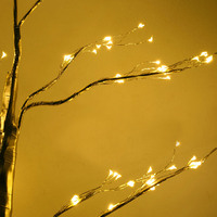 Hot 1 Pcs Simulation Tree LED Lights Decoration Christmas Party Home Festival Indoor Outdoor PLD