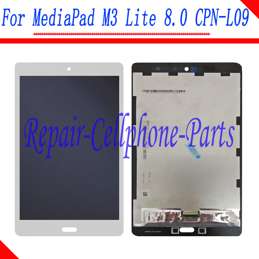White LCD DIsplay + Touch Screen Digitizer Assembly For Huawei MediaPad M3 Lite 8.0 TD-LTE CPN-L09 CPN-W09C for huawei mediapad m3 lite 8 8 0 cpn w09 cpn al00 cpn l09 lcd display touch screen digitizer assembly