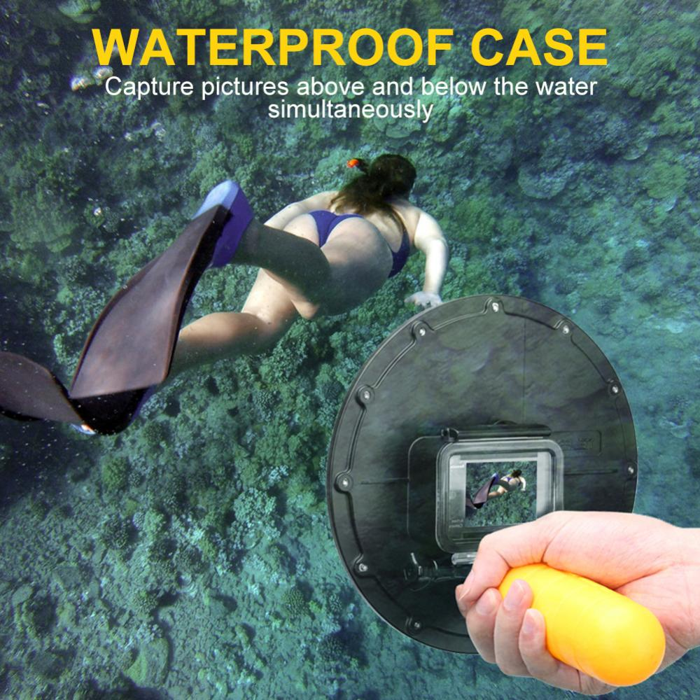 TELESIN Waterproof Camera Dome Port Case Cover for Eken H9R H9S Cameras Accessories
