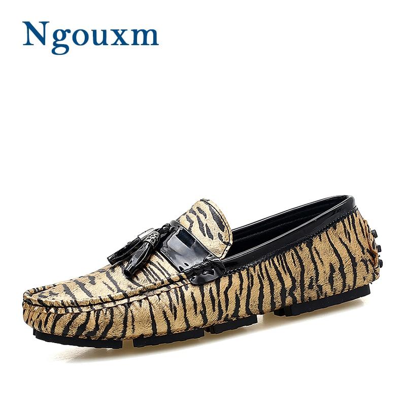 Boda Los Slip Calzado On plata Zapatos Mocasines Leopardo Hombre Oro Cuero  Planos Otoño Fiesta Casuales Ngouxm Bolso De Primavera Hombres t4qZ1x 8a94da56d63