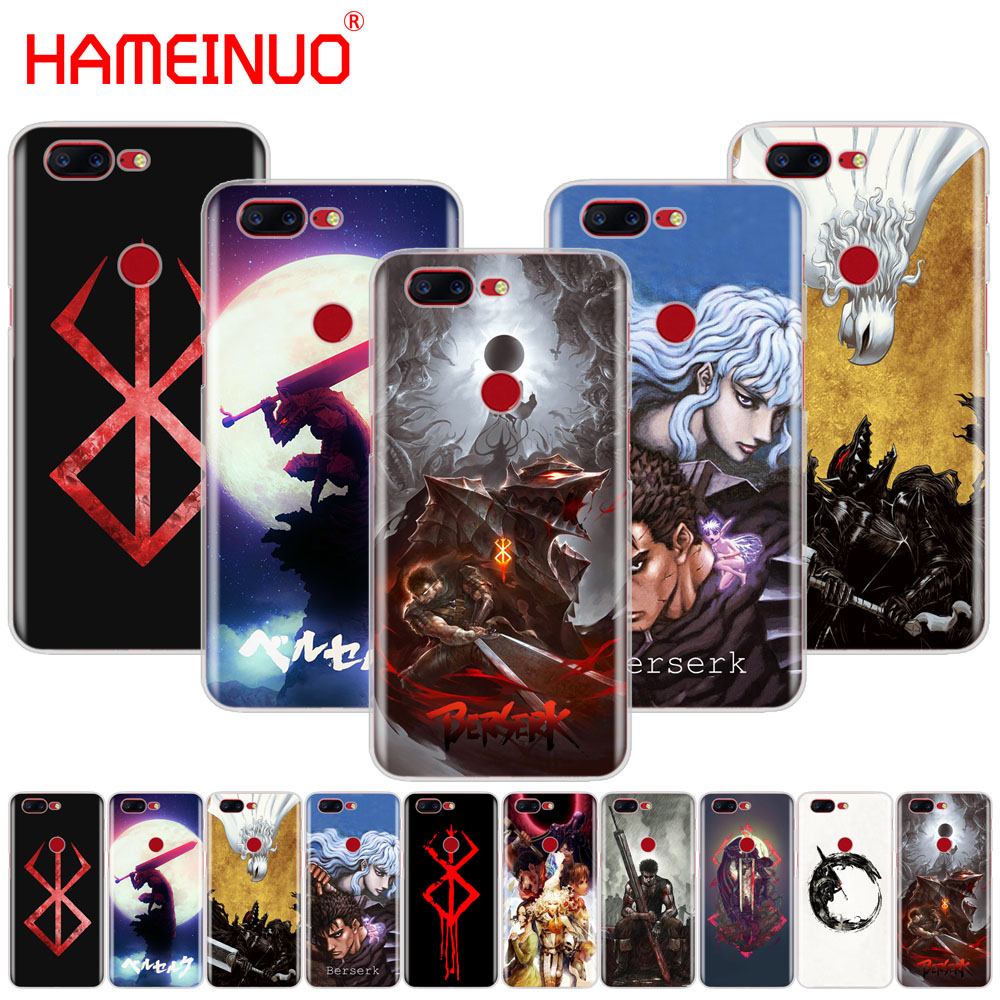 HAMEINUO Berserk Guts <font><b>Anime</b></font> Cool cover phone <font><b>case</b></font> for Oneplus <font><b>one</b></font> <font><b>plus</b></font> 6 5T 5 3 <font><b>3t</b></font> 2 A3000 A5000 image
