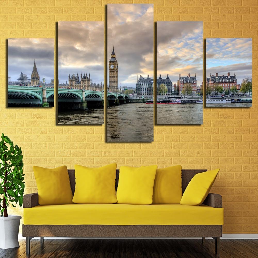 Canvas Wall Art Pictures Frame Kitchen Restaurant Decor 5 Pieces Big ...