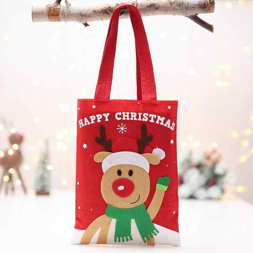 חג המולד קישוטי חג המולד שלג Apple תיק חג המולד תפוח ערב תיק עבור ממתקי ביסקוויטים חטיף חבילה אירוע ספקי צד