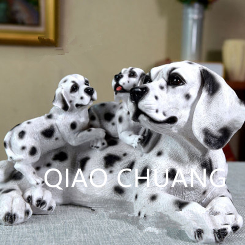 Simulation World Famous Dog Colophony Crafts German Shepherd Dog Golden Retriever Dalmatian Home Furnishing Articles G924