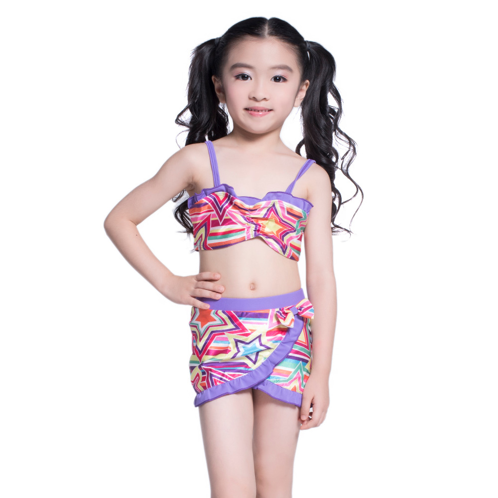 princess swimwear children two pieces bathing suit girl swim clothes