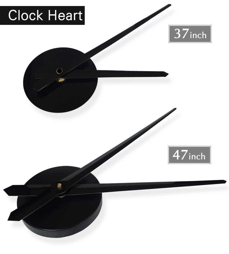 Reloj de 37/50 pulgadas de moda 3D de gran tamaño Reloj de pared pegatina espejo DIY breve sala de estar decoración Reloj de pared de sala de reuniones