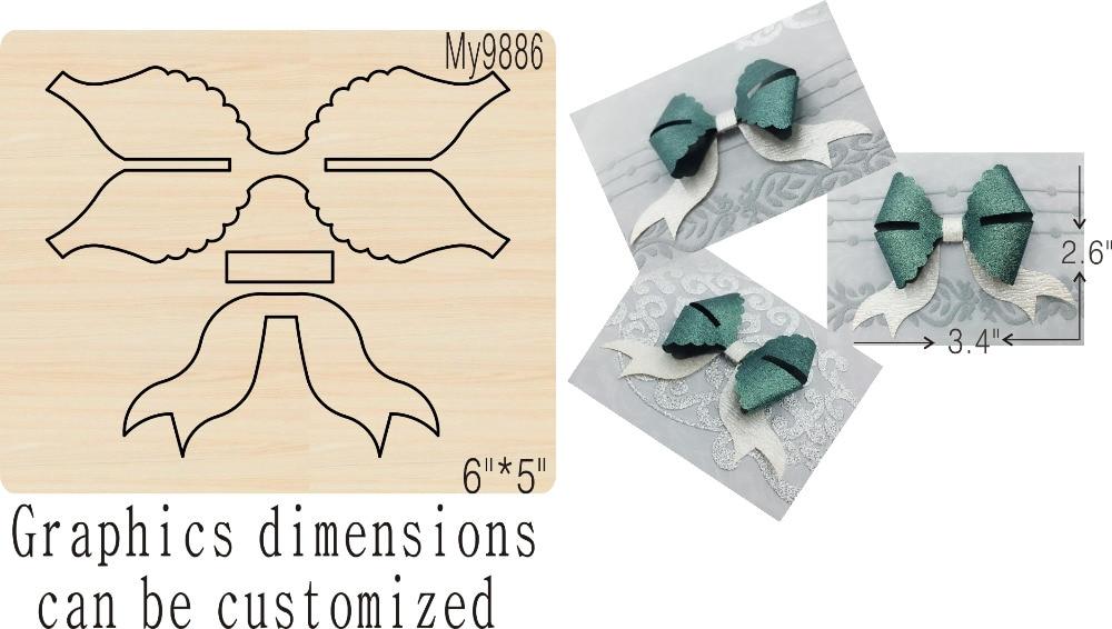 Changeful folded bow wooden mold die cut accessories wooden die Regola Acciaio Die Misura ,MY-in Cutting Dies from Home & Garden    1