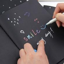Эскиз граффити рисования блокнот дневник черная бумага школы живопись подарки офис