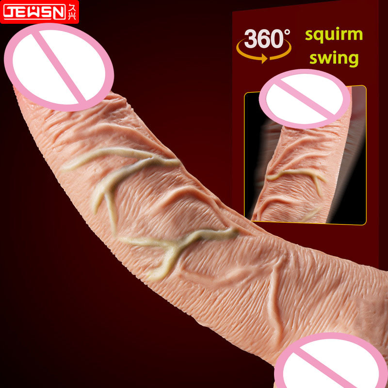 New Squirm Swing vibrating super realistic suction cup dildo vibrator artificial penis dick sex toys for woman large dildos 10 frequency vibrating penis artificial large realistic dildo vibrator sextoys flesh brown big dick suction cup dildos for women