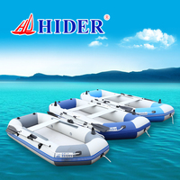 HIDER HD 265 PVC inflatable boat sea rubber 0.9mm pvc inflatable kayak fishing boat with all accessories and two rod holder