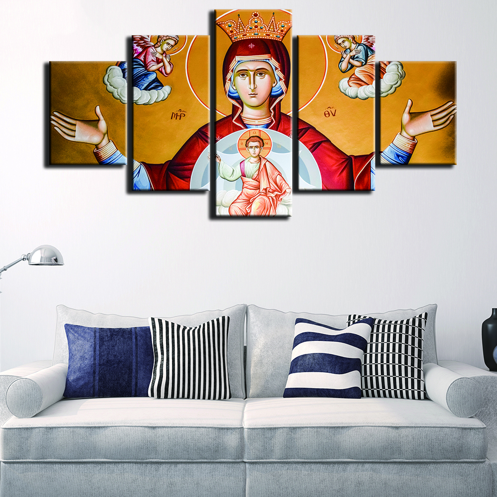Modern Frames For Paintings Decorative Canvas Art Prints 5 Panel ...