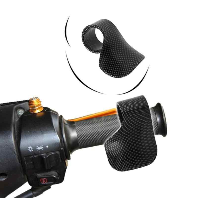 قبضة الدراجة النارية الإلكترونية دواسة الخانق مساعدة من ألياف الكربون واقي سرعة المعصم ملحقات الدراجة النارية العالمية