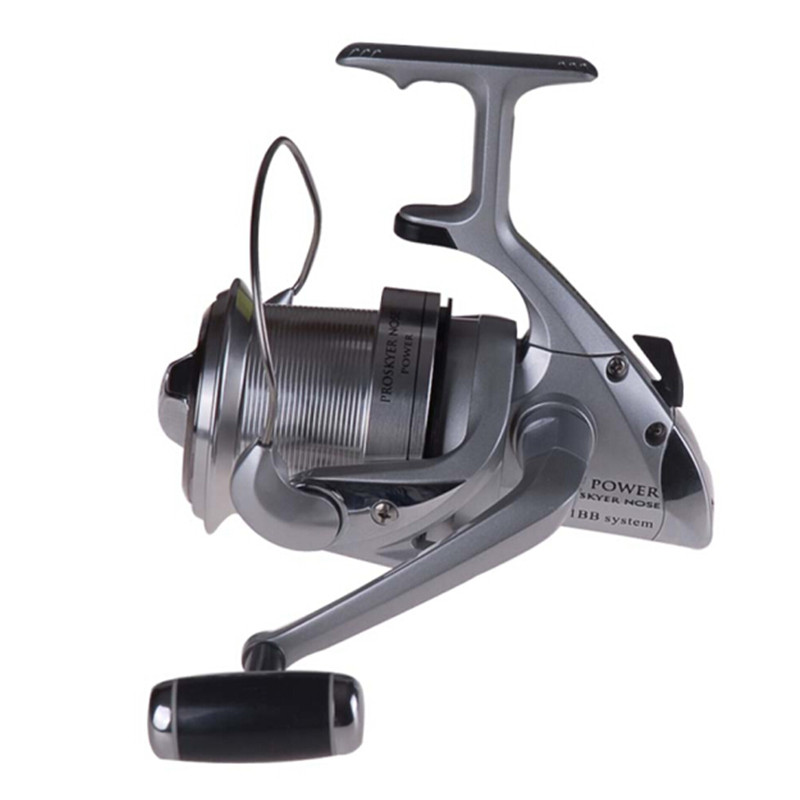 RYOBI Spinning Fishing Reel 3.9:1/4+1BB Silvery Aluminum Spool Full Metal Body Fishing Reels Moulinet De Peche Carp reel Coil 100% original shimano alivio spinning fishing reel 1 1bb with original nylon fishing line ar c spool rigid body fishing reels