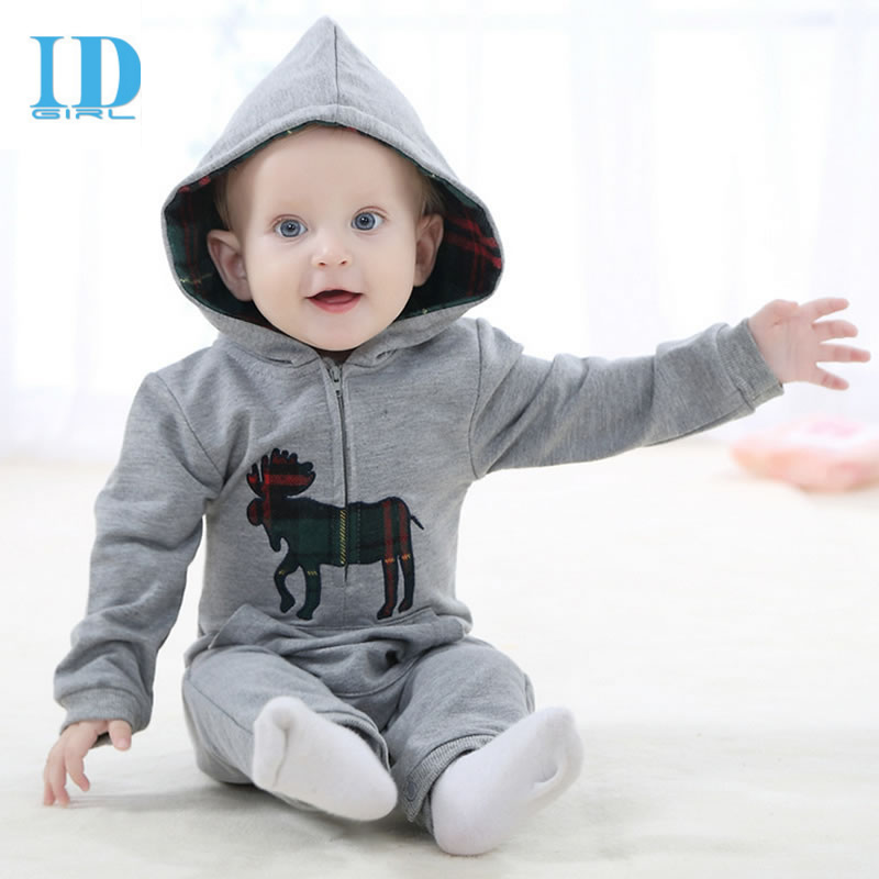 Baby Rompers 2017 Fashion kids Newborn Jumpsuit Children Clothes Hooded Cotton Costume Spring Autumn Romper Baby Boys Clothing baby hoodies newborn rompers boys clothes for autumn magical hooded romper long sleeve jumpsuit kids costumes girls clothing