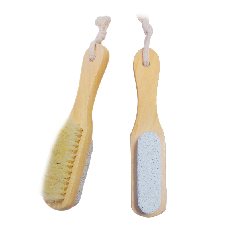 Natural Bristles Scrubber Long Handle Wooden Spa Brush Bath Body Massage Brushes -35