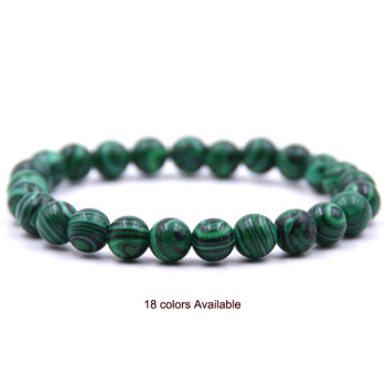 Natural Stone 8mm Beads Bracelets High Quality Tiger Eye Buddha Lava Round Beads Elasticity Rope Bracelets for women & men jewel buddhist rope bracelet