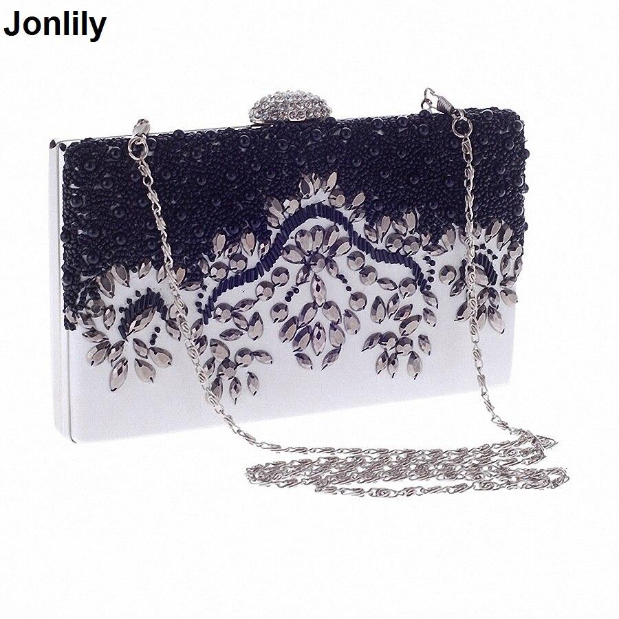 Sale Promotion Women Hand Bag Elegant Pearl Type Womens Day Clutch Evening Bags Wedding Bridal Handbag Purse Shoulder LI-987