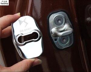 Крышка дверного замка автомобиля, защитная крышка из нержавеющей стали, 4 шт./компл., DS3 DS4 DS5 DS5LS DS6
