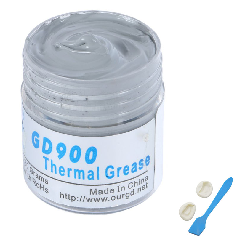 30g Gray Nano GD900 Containing Silver RoHs Thermal Conductivity Grease Paste Silicone Heat Sink Compound 4.8W/M-K For CPU LED 30g thermal grease paste compound silicone for cpu heatsink heat sink free shipping