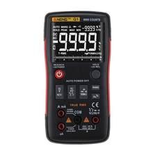 Multímetro digital q1, verdadeiro-rms botão automático 9999 contagens com barra analógica gráfico de tensão ac/dc amperímetro corrente testador transistor de ohm