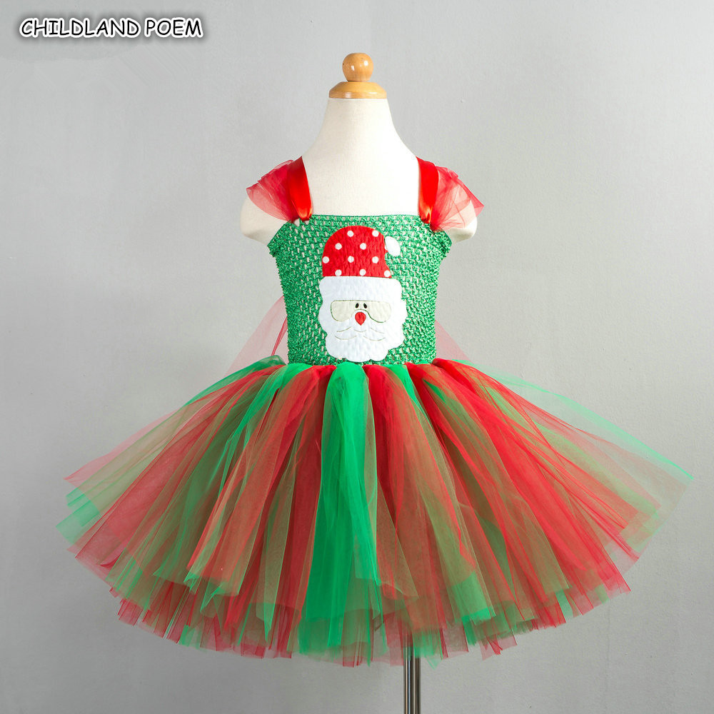 Christmas Girls Dress Kids Dresses For Girls Christmas Party Girls Costumes Gown Santa Claus Dress Toddler Baby Girl Dress christmas santa claus snowflake vintage plus size dress