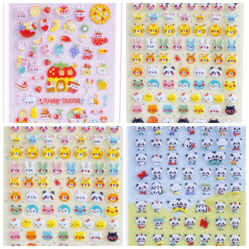 Kids Puffy Sticker Cartoon Animal Stickers Diy Eva Foam Material Notebook Laptop Stickers Girls Toys For Children Cheap-toys